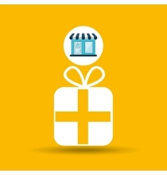 Ecommerce store buy gift icon vector