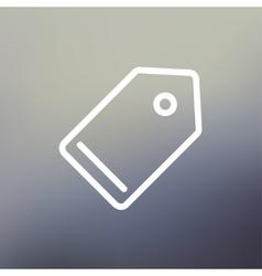 Empty tag thin line icon vector image vector image
