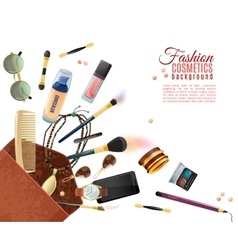 Fashion Cosmetics Background vector image vector image