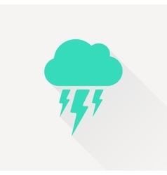 flash icon Epsgreen0 vector image vector image
