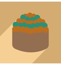 Flat with shadow icon and mobile application sushi vector