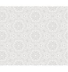Flourish mosaic tiled pattern floral oriental vector