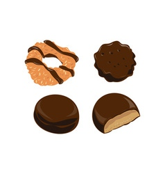 Girl scout cookies chocolate vector