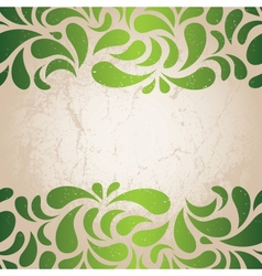 green vintage wallpaper vector image vector image