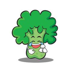 joy broccoli chracter cartoon style vector image