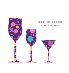 Molecular structure three wine glasses silhouettes vector
