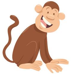 monkey cartoon animal character vector image vector image