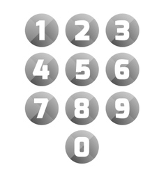 Number set circle vector
