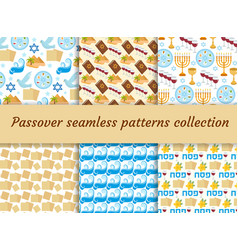 passover seamless pattern collection pesach vector image vector image