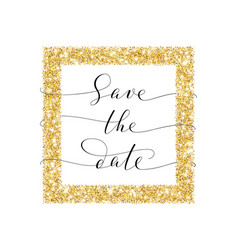 save the date card hand written custom vector image