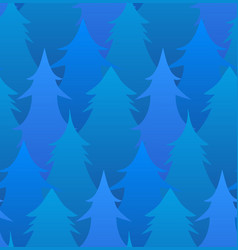 seamless pattern with winter trees for your vector image