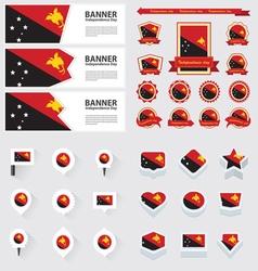 SET Papua New Guinea vector image