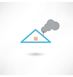 smoke from the chimney vector image vector image
