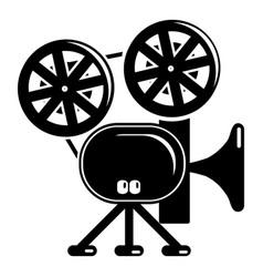 video camera icon simple black style vector image