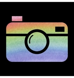 Watercolor camera icon vector