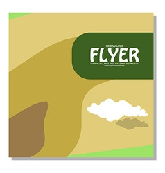Flyers with the image of rocky terrain and forests vector
