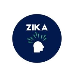 Icon on circle various symptoms of zika vector