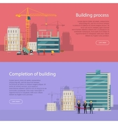 Building process completion of building vector