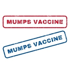 Mumps vaccine rubber stamps vector