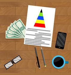 Financial business analytics vector