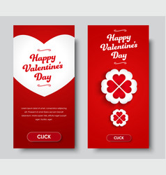 Design vertical banners happy valentines day vector