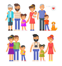 flat style family set vector image