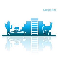 Attractions mexico abstract landscape vector