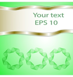 Graphic green background for text and message vector