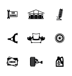 Car sevice icon set vector
