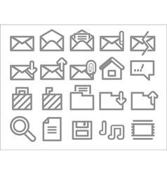 Envelope folder web icons vector