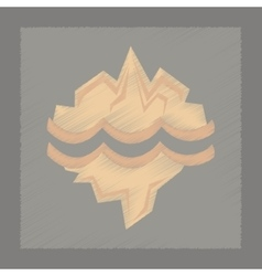 Flat shading style icon melting glacier vector