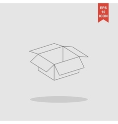 Box  flat design style vector