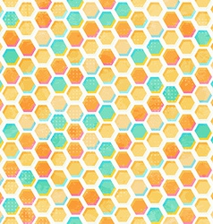 Abstract honeycomb seamless pattern with grunge vector