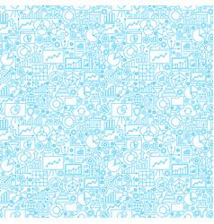 Analytics white seamless pattern vector