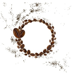 background coffee beans vector image