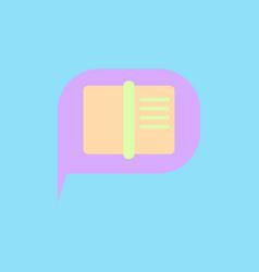 Book in talk cloud vector