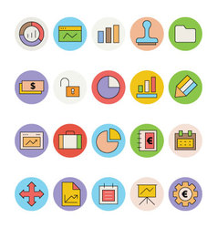 Business and office colored icons 1 vector