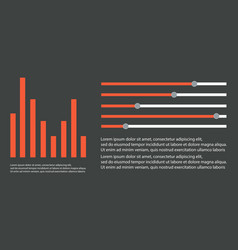 Business infographic graph style collection vector