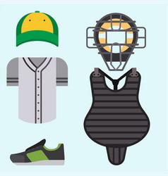 Cartoon baseball uniform player batting vector