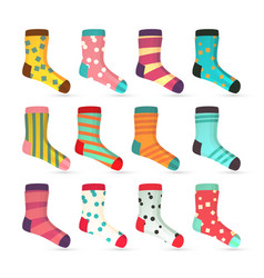 child socks icons colorful socks set vector image