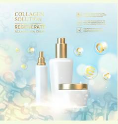 Collagen regenerate cream vector