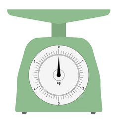 colored domestic weigh-scales vector image