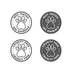 Cruelty free not tested on animal sign icon symbol vector