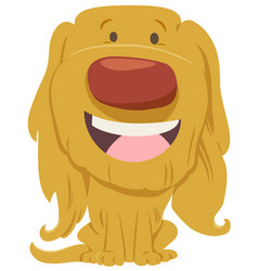 Cute dog cartoon character vector