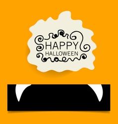 Cute note papers happy halloween design background vector