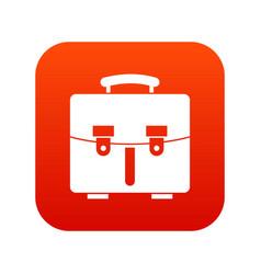 diplomat bag icon digital red vector image