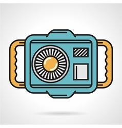 Diving camera flat design icon vector