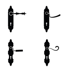 Door handle icon set vector