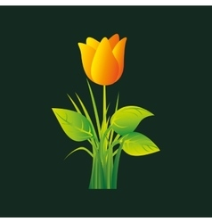 eco book environment natural flower graphic vector image