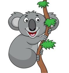 Funny koala cartoon vector